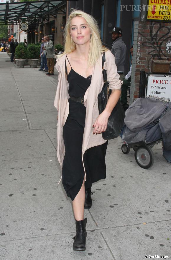 Amber Heard dans les rues de New York le 8 mai.