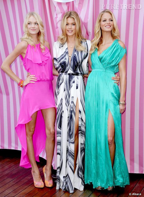 Lindsay Ellingson, Doutzen Kroes et Erin Heatherton dévoilent la collection What's Sexy Now de Victoria's Secret à Beverly Hills.