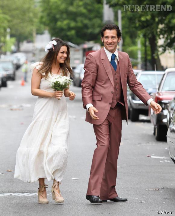 """Mila Kunis sur le tournage de """"Blood Ties"""" à New York."""