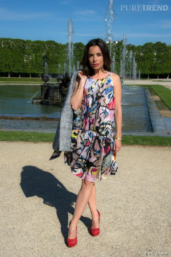 Elodie Bouchez, tendance color block.