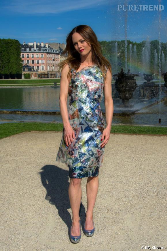 Vanessa Paradis, un look brillant.