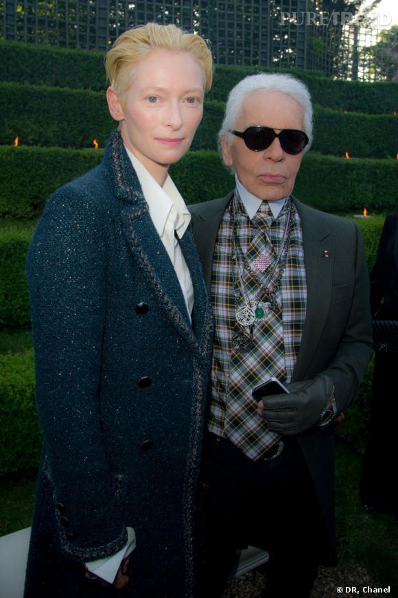 Tilda Swinton et Karl Lagerfeld.