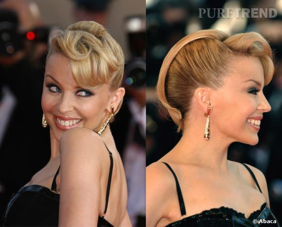 Le chignon travaillé de Kylie Minogue au Festival de Cannes - 2007.