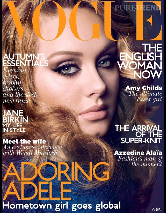 Adele, en couverture du numéro d'octobre 2011 du Vogue britannique, fait chuter les ventes du magazine