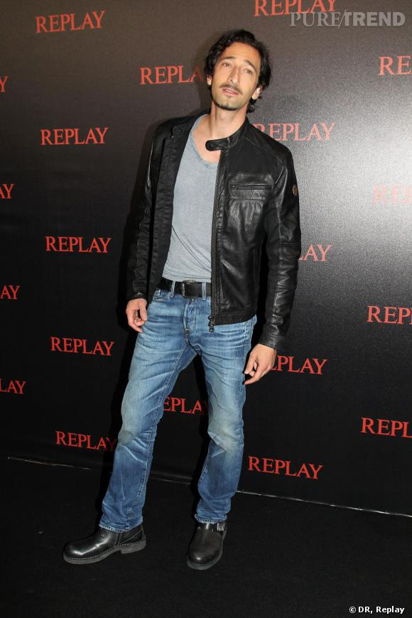 Adrien Brody à la soirée Replay.