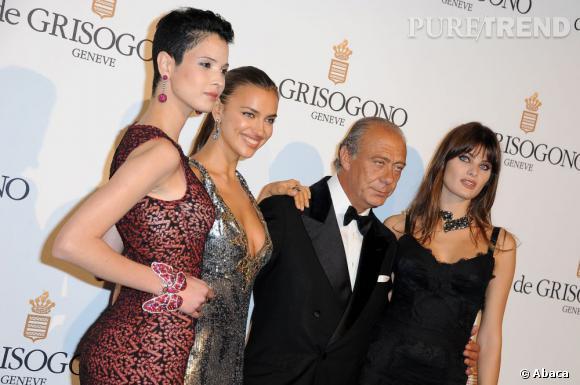 Fawaz Gruosi bien entouré lors de la soirée de Grisogono organisée à l'Eden Rock à Cannes.