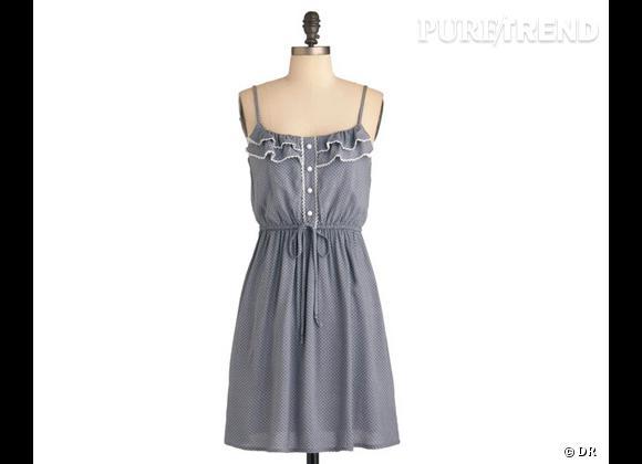 La shopping list preppy idéale pour Roland Garros 2012 !     Robe, environ 40 € sur  www.modcloth.com