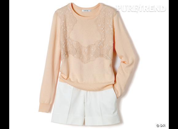 La shopping list preppy idéale pour Roland Garros 2012 !     Pull Carven et Short Club Monaco, 290 et 90 € aux Galeries Lafayette