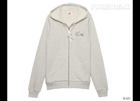 La shopping list preppy idéale pour Roland Garros 2012 !     Hoodie Lacoste L!ve, 110 €