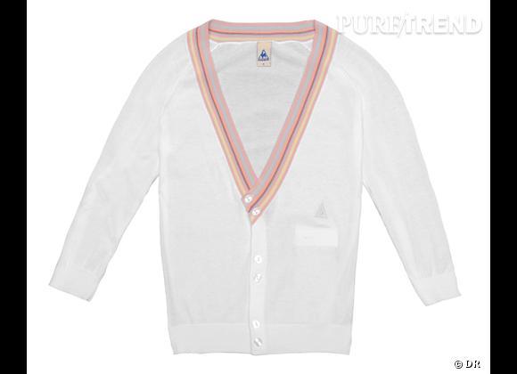 La shopping list preppy idéale pour Roland Garros 2012 !     Gilet Tennis Le Coq Sportif, 75 €