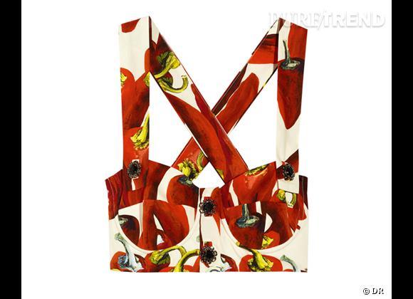 Comme les stars adoptez le top brassière !    Brassière bustier Dolce & Gabbana, 545 € sur  www.net-a-porter.com