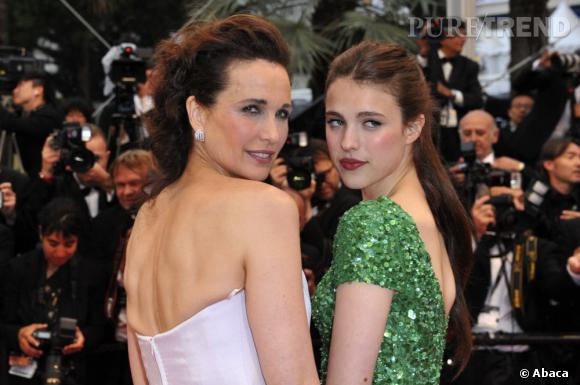 Andie MacDowell et sa fille Sarah Margaret Qualley.