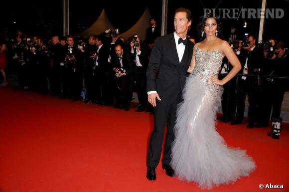 Matthew McConaughey et Camila Alves en Marchesa.