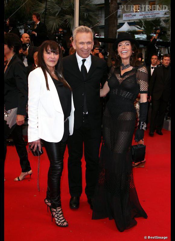 Babeth Djian, Jean Paul Gaultier et Mouna Ayoub.