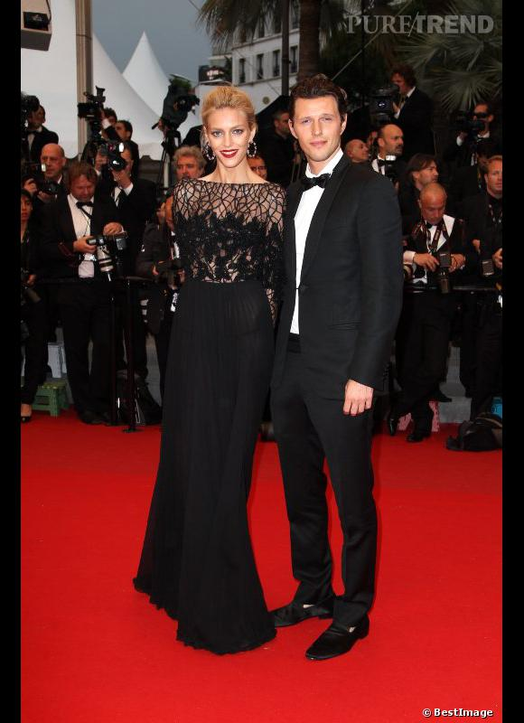Anja Rubik et Elie Saab et son mari     Sasha Knezevic.