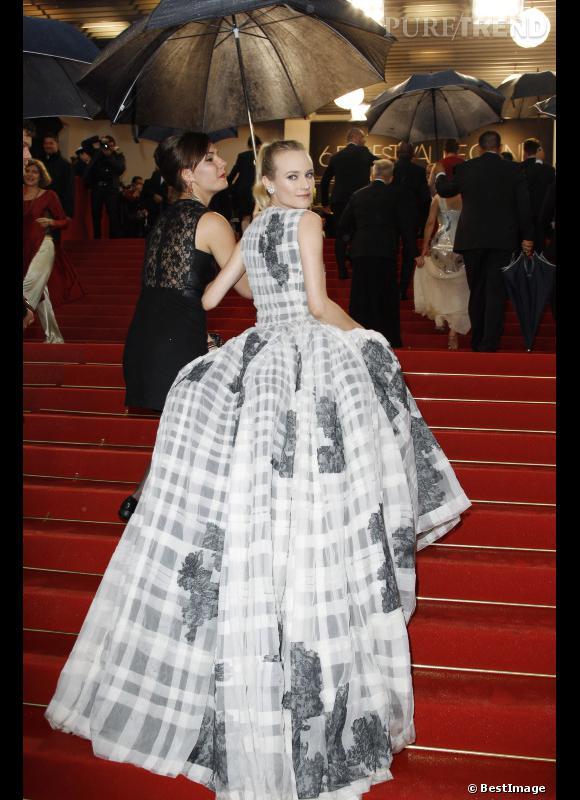 Diane Kruger époustouflante en Christian Dior Haute Couture.