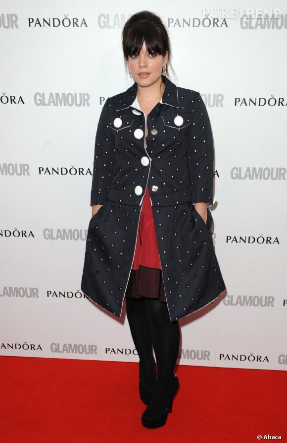 """Lily Allen à la soirée """"Femme de l'année"""" organisée par le magazine Glamour."""