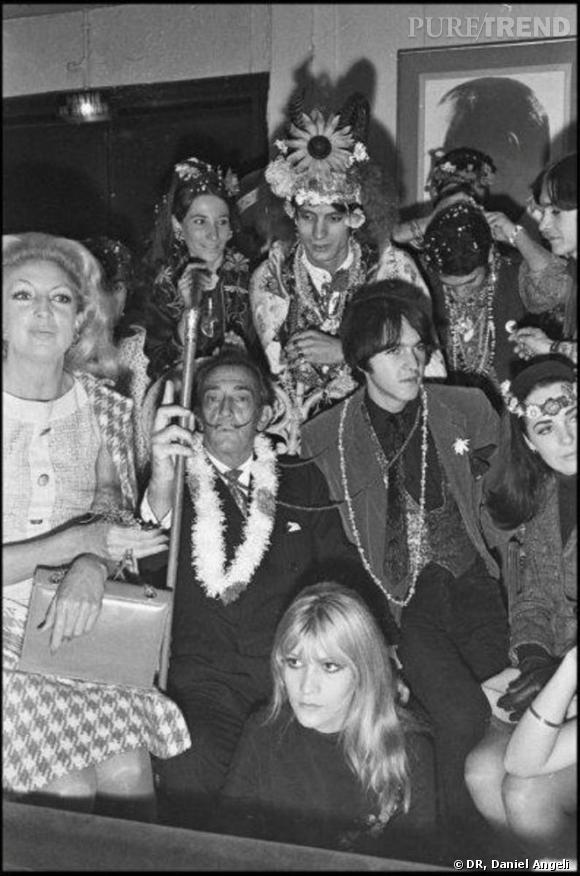 Salvador Dali à Bobino.   Paris, 1967.