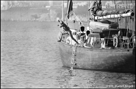 Triptyque, Le plongeon.   Gianni Agnelli, Saint-Jean-Cap-Ferrat, 1977.