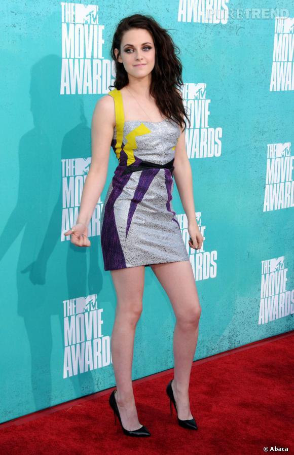 Kristen Stewart aux MTV Movie Awards 2012 en Californie.