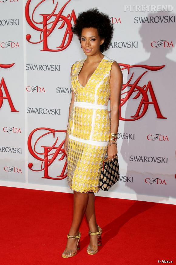 Solange Knowles lors des CFDA Fashion Awards 2012 à New York.