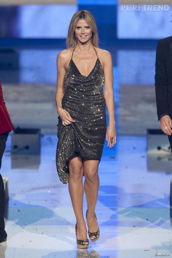 Heidi Klum, très sexy pour son retour aux sources.