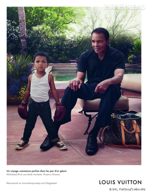 Mohamed Ali pour la campagne Louis Vuitton Corue Values 2012.