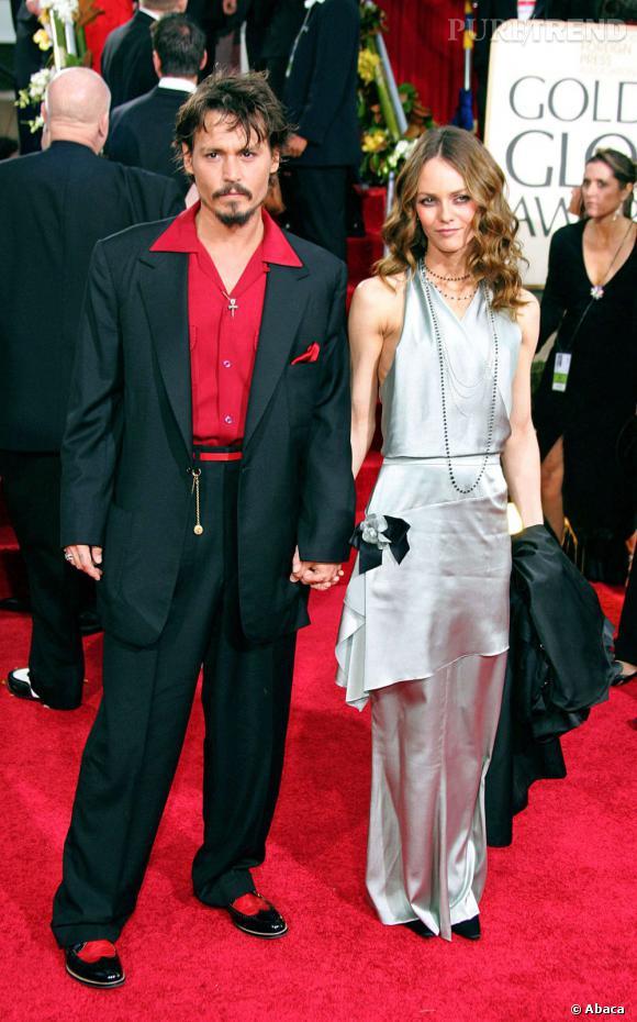 16 janvier 2006  : Fidèles aux Golden Globes, Johnny Depp et Vanessa Paradis retrouvent leur looks des années 20...