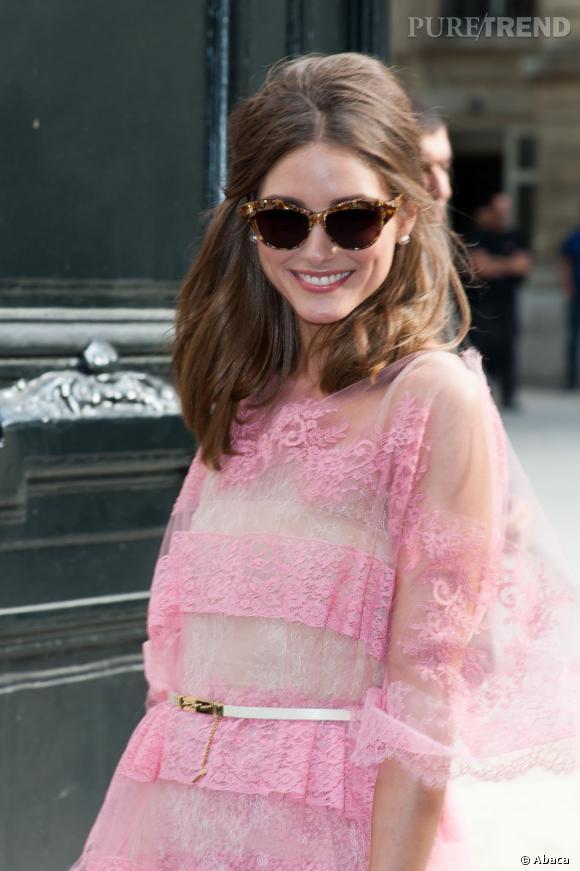 Olivia Palermo au défilé Valentino Haute Couture Automne-Hiver 2012/2013 à Paris.