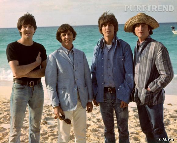 Les Beatles à la mer.