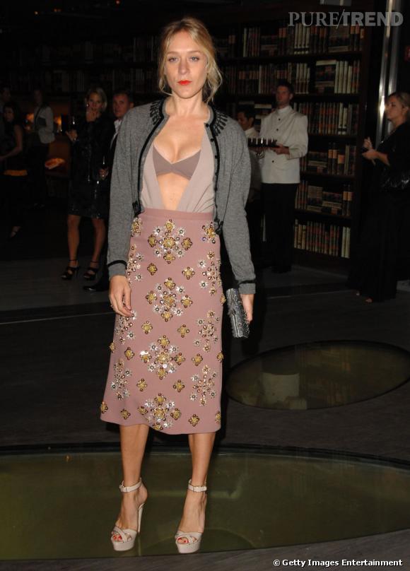En 2012, on montre ses sous-vêtements. Comme Chloë Sevigny en Miu Miu.
