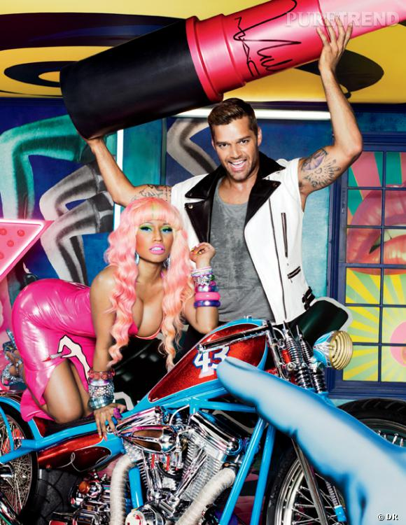 La très distinguée Nicki Minaj pose aux côtés de Ricky Martin pour MAC.