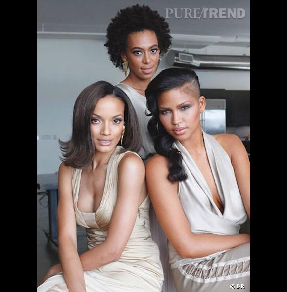Cassie, Solange Knowles et Selita Ebanks, un trio de choc pour la marque Carol's daughter spécialisée dans les produits pour cheveux afros.