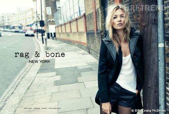 Kate Moss pour Rag & Bone, Automne-Hiver 2012/2013.