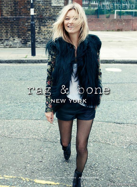 Kate Moss pour Rag & Bone.