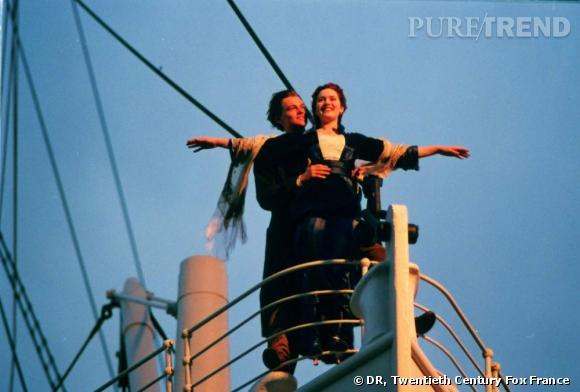 "Leonardo Dicaprio et Kate Winslet dans ""Titanic"" en 1997."