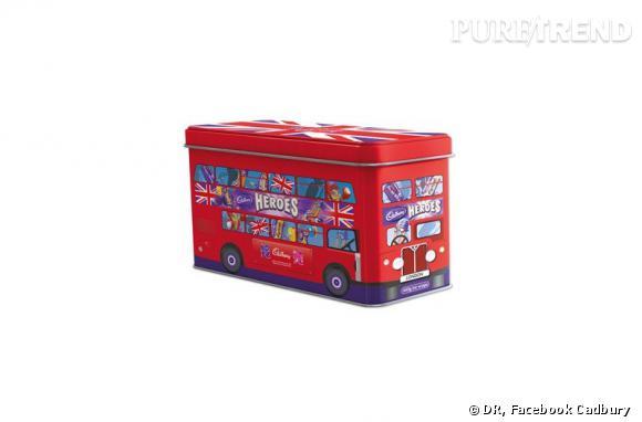 La marque Cadbury fait un clin d'oeil à Londres et à ses fameux bus rouges avec un coffret très gourmand.