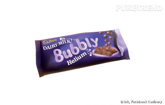 La nouvelle invention de la marque anglaise Cadbury, le Dairy Milk Bubbly Helium.