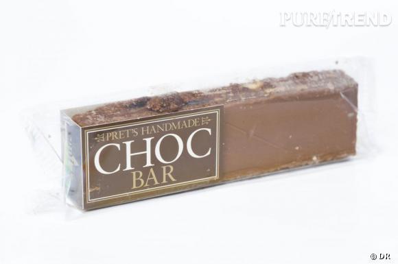 Un sablé anglais, des raisins secs, du sirop de sucre et du chocolat, le tout dans une barre très, très gourmande.   Choc Bar, Prêt à Manger