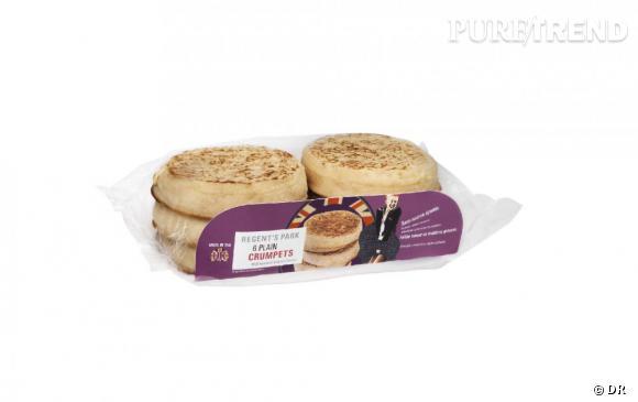 Typiquement anglaises, les crumpets sont de petites crêpes épaisses à la texture alvéolée, à tartiner de beurre et/ou de miel au petit déjeuner.   Crumpets, Regent's Park (chez Monoprix et Carrefour City)