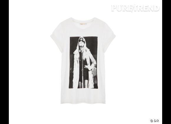 Le coup de coeur de Chloé.  T-shirt Françoise Hardy pour Maje.