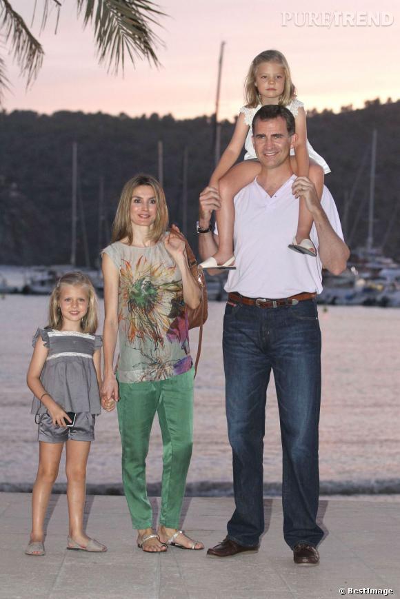 Les membres de la famille royale d'Espagne durant leurs vacances à Majorque.