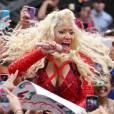 Nicki Minaj en concert pour le Today Show à New York.