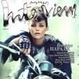 Vanessa Paradis, motarde à banane pour Interview Magazine.
