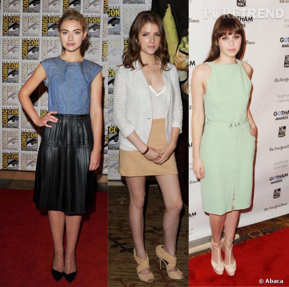 Imogen Poots, Anna Kendrick, Felicity Jones.
