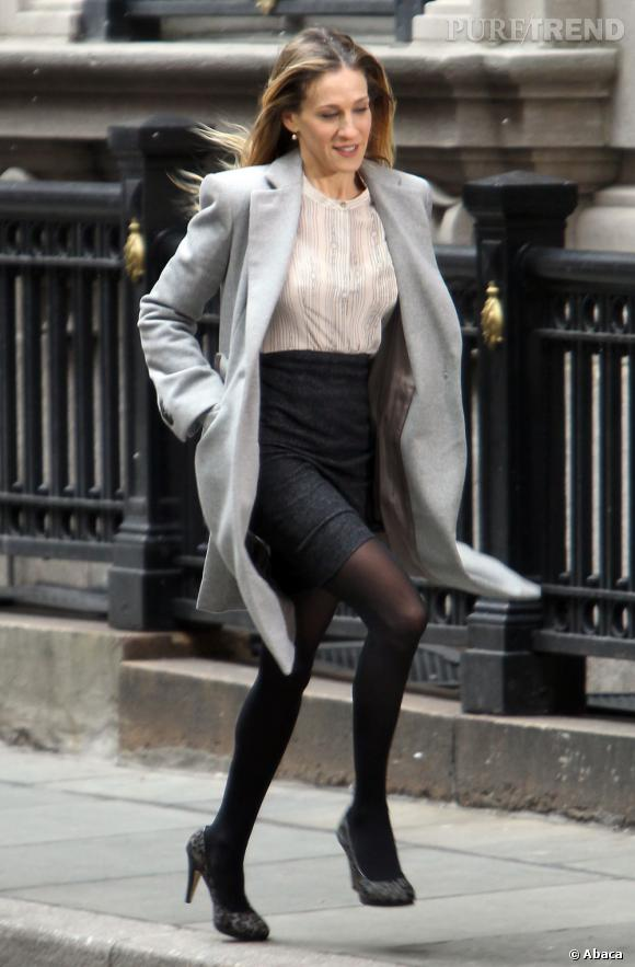 Le top Sarah Jessica Parker :  Toujours en train de courir, mais dans un autre film, et plus élégante !