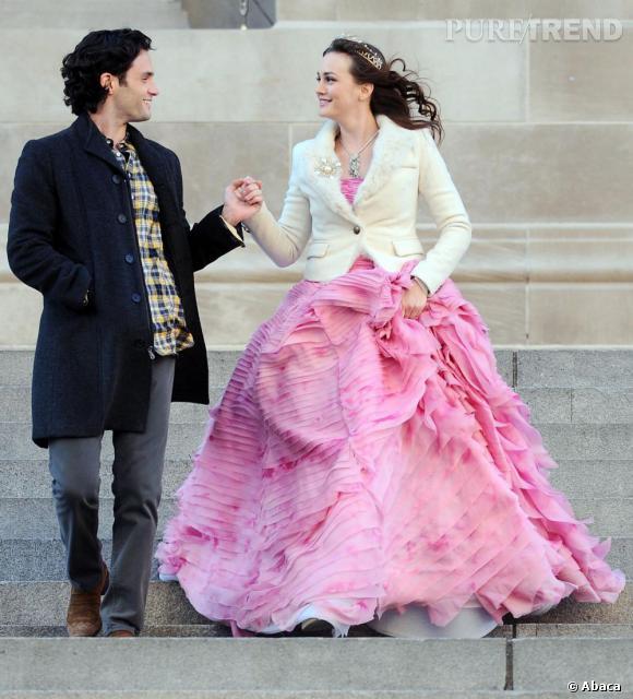 Le top Leighton Meester :  On ne s'en lasse pas de cette robe Oscar de la Renta ! Leighton (enfin Blair) est magnifique !