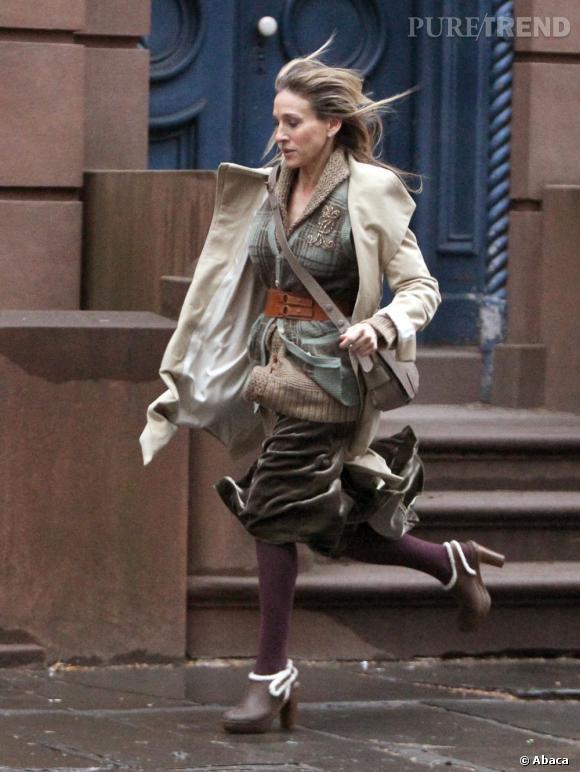 """Le flop Sarah Jessica Parker :  On dirait que la it-girl de New York a perdu la raison... Ou en tout cas, dans le film """"Happy New Year"""""""