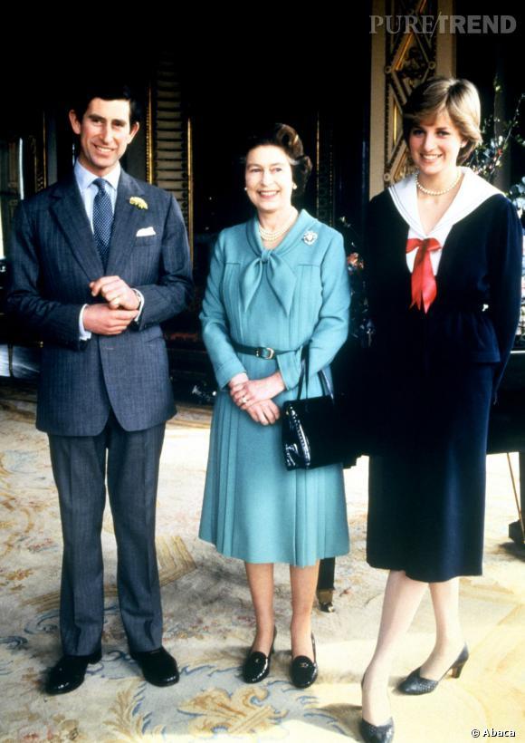 Lady Diana juste après un meeting officielle au moment de ses fiançailles avec Charles.