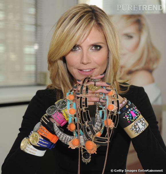 """Heidi Klum et sa ligne de bijoux """"Wildlife"""" pour QVC."""